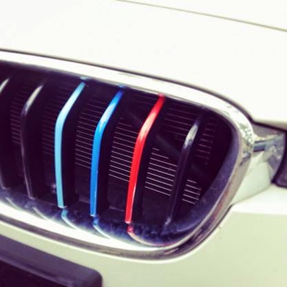HORCH MOTORSPORTS BMW M Colored Kidney Grille Stripe Decals - Bmw grille stripe decals