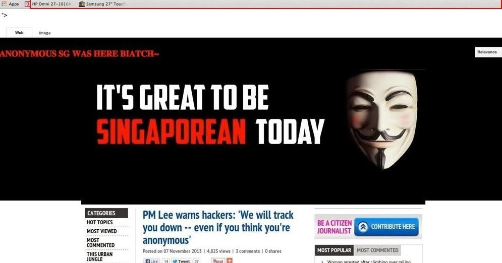 Anonymous Hacker Charged For Hacking Singapore PM Website ...