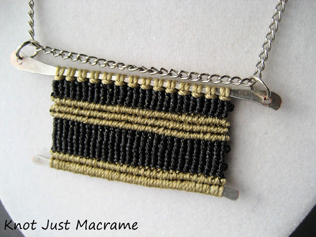 Year of Jewelry Week 9 Simplicity macrame pendant by Sherri Stokey