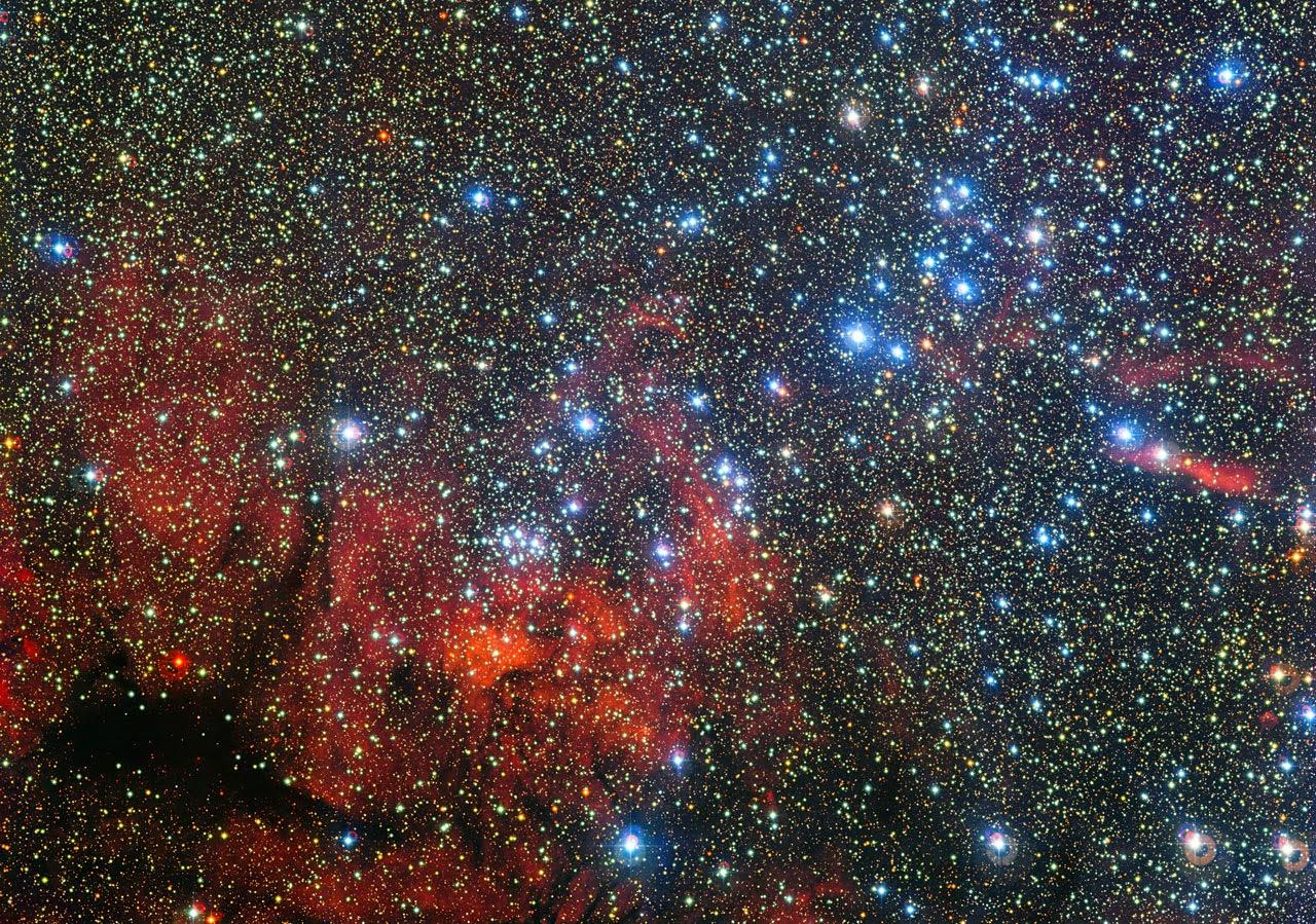 Звездное скопление NGC 3590 в созвездии Киль