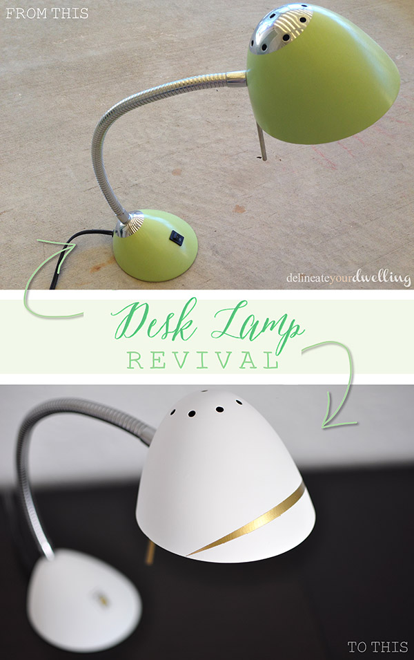 Desk Lamp revival, Delineate Your Dwelling #office #light #white #gold