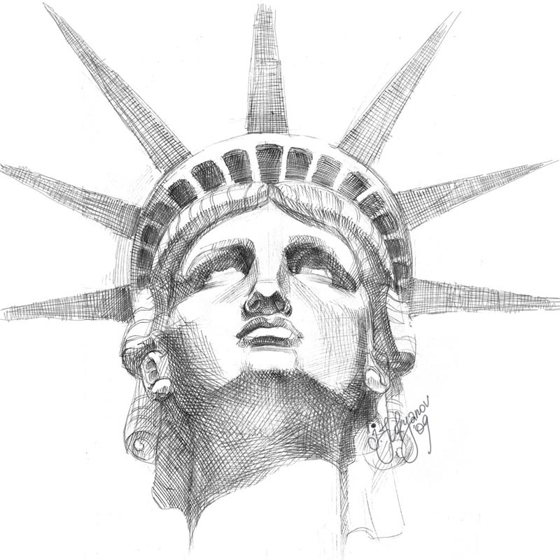 Statue of Liberty Drawing Statue of Liberty Face