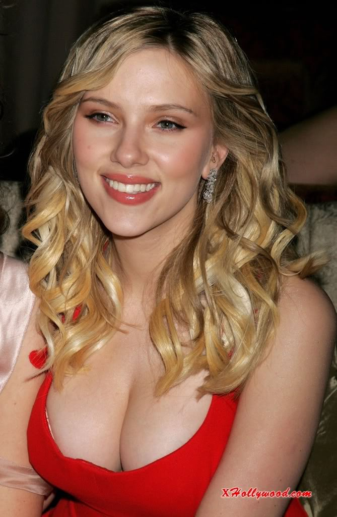 Definitely if you wear a hot little number like Scarlett Johannson, you're going to get looks at your chest.