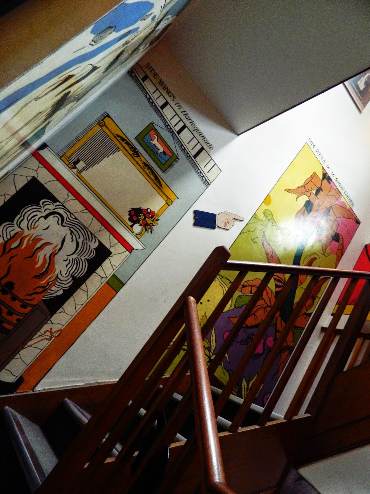covent garden shop inside theatre performance wall paintings