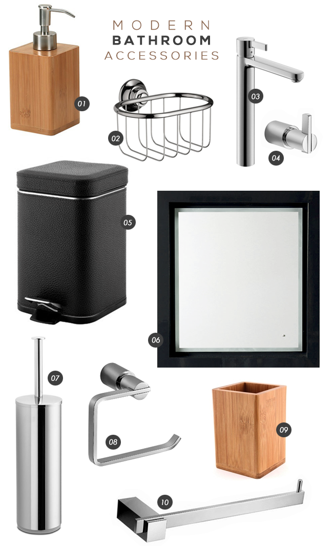 Modern Bathroom Accessories // Bubby and Bean