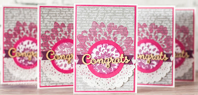 Congratulations Cards made using Definitely Dahlia from Stampin' Up! UK