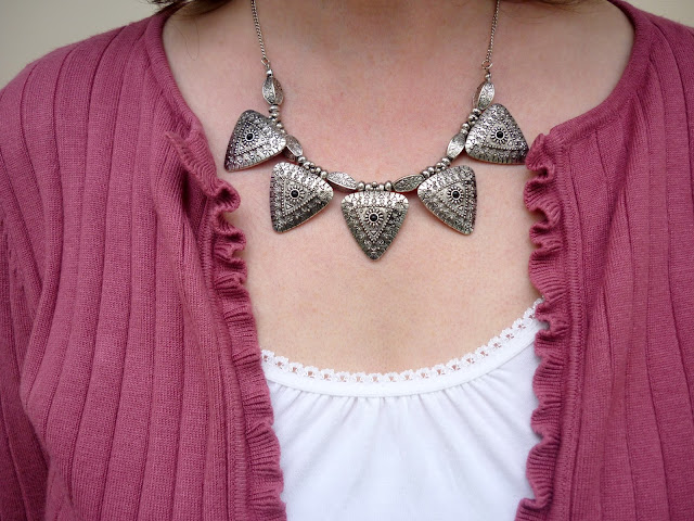 New Look Silver Triangle Necklace | Petite Silver Vixen