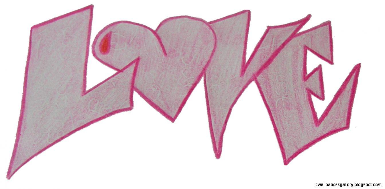 Graffiti style writing love by NumbAngel on DeviantArt