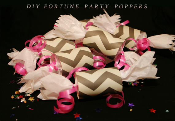 DIY Fortune Party Poppers // Bubby and Bean
