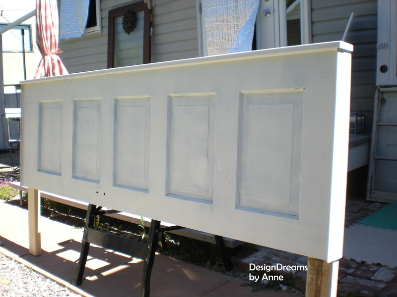 Designdreams by anne easy antique paint finish for How to make a headboard out of a door
