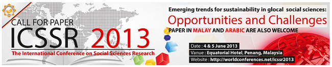 International Conference on Social Sciences Research 2013