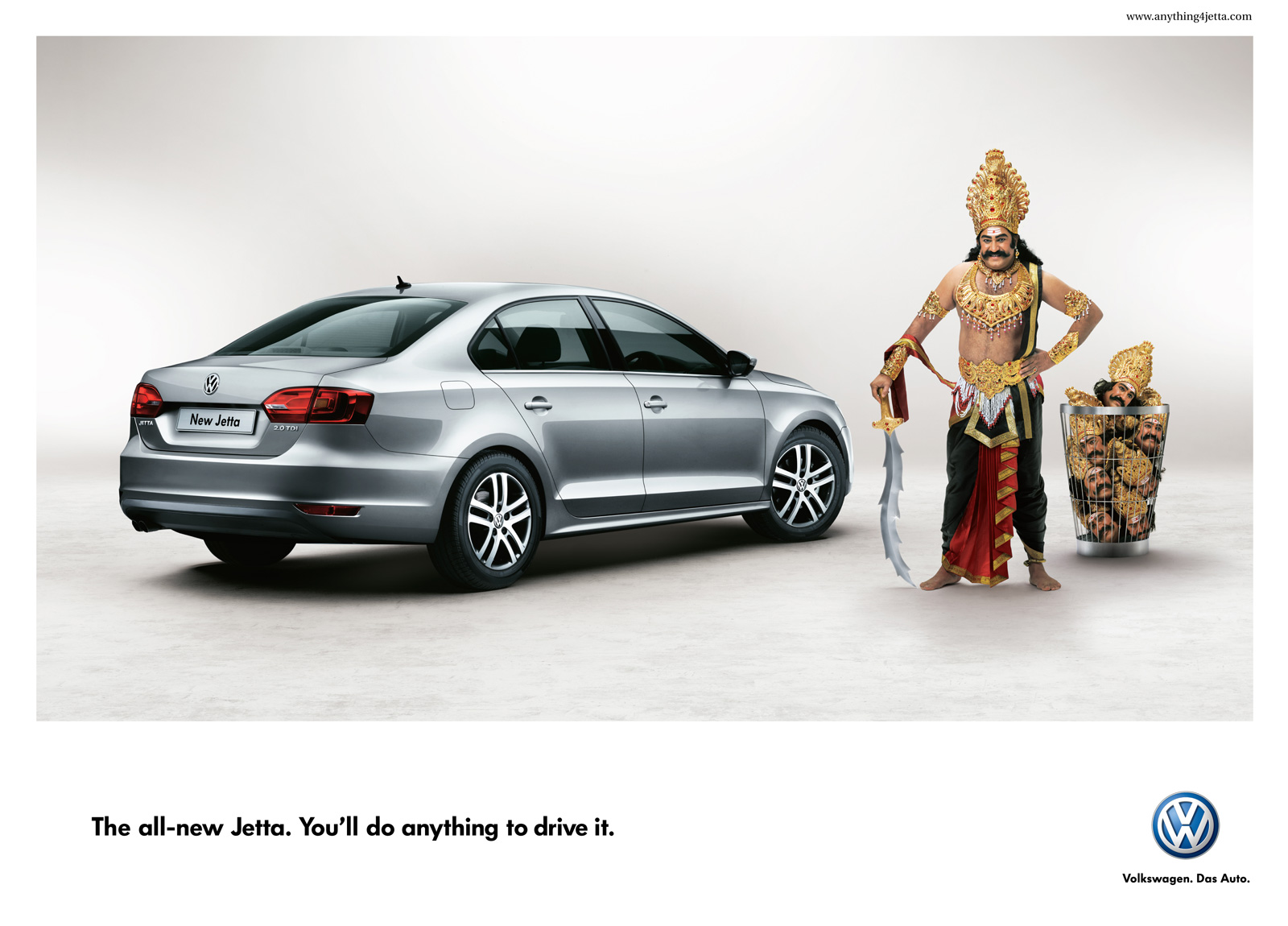 cool ads nice art  Volkswagen Jetta  Youll do anything to drive it