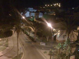 La plaza de Gran Tarajal vista desde mi piso