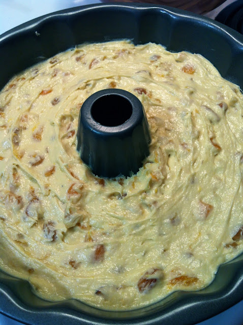 ready for the oven - Apricot Raisin Cake