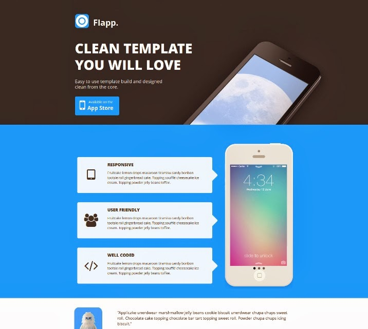 Flapp - One Page Responsive Landing Page