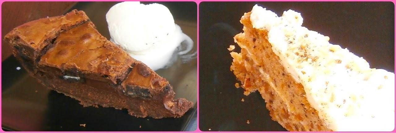 Brownie de Oreo y tarta de zanahoria de Baco -AcericoPop-