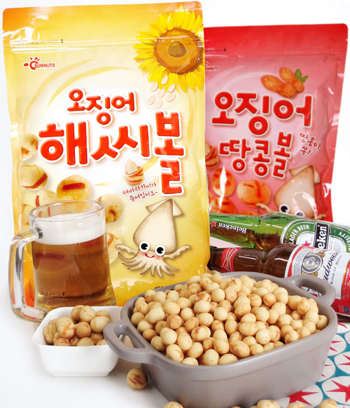 Squid Sunflower Seed Balls 450 g x 2 packets (900 g)