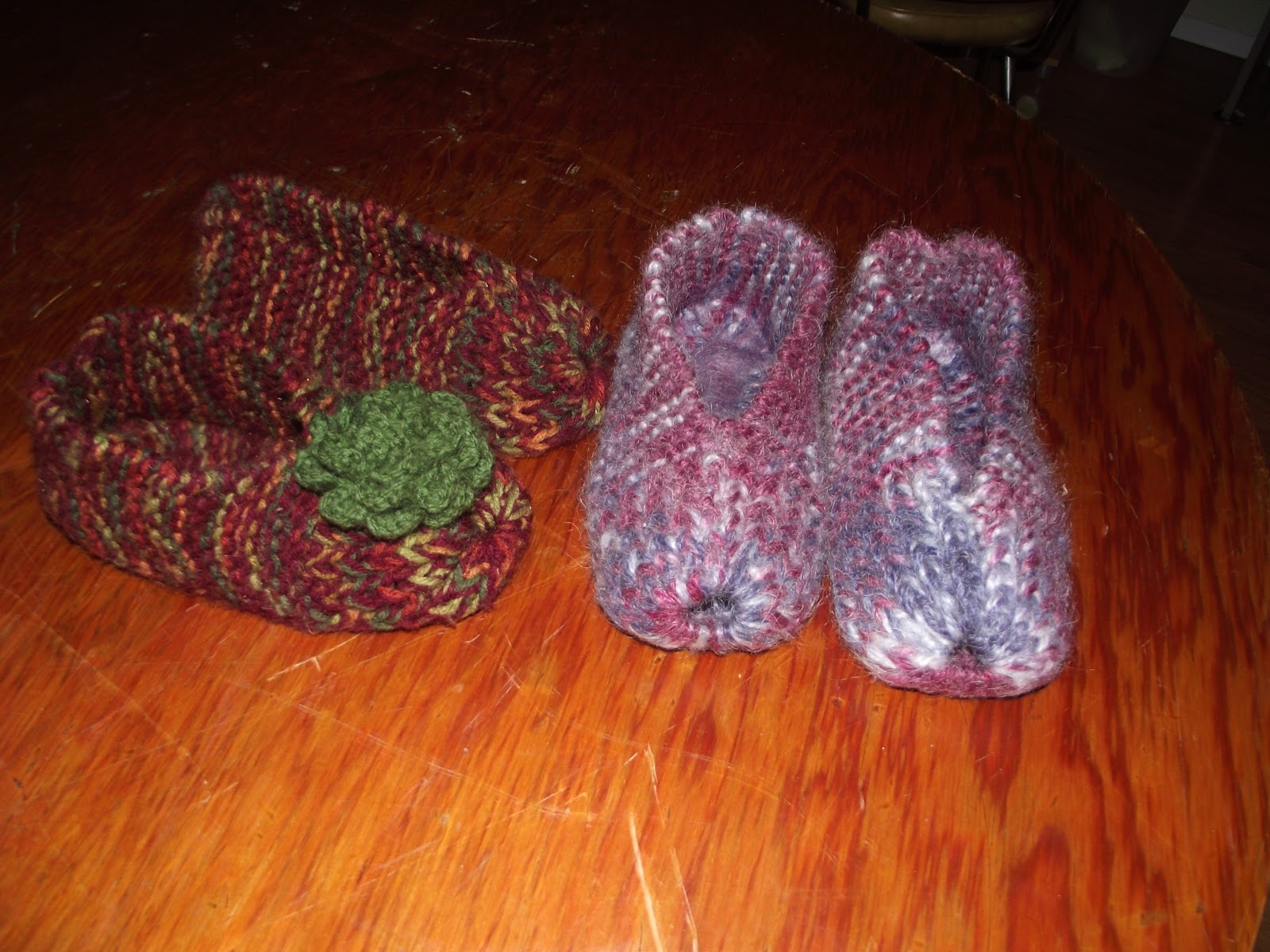 Country Mom At Home Easy Easy Knitted Slippers A Tutorial