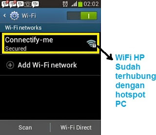 Cara Share Internet Dari PC Ke HP Android 3