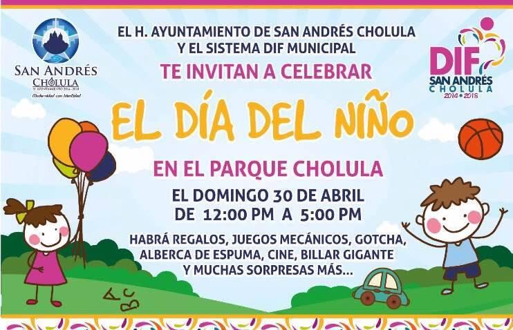 San Andrés Cholula festeja a las y los niños