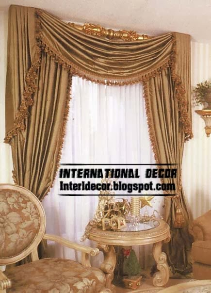 Luxury Silk Curtain Drapes For Living Room Interior 2014