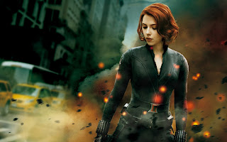 Beautiful Scarlett Johansson as Black Widow Avengers 2012 HD Wallpaper