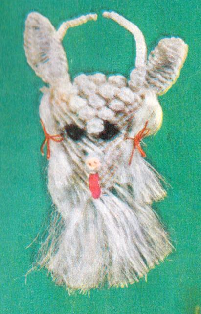 Плетение козы в макраме. Схема