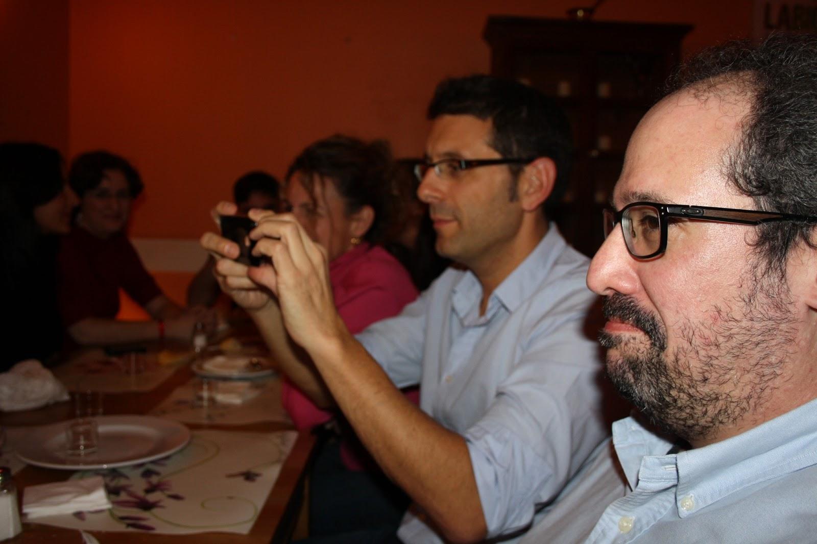 Miguel Llorens y Xosé Castro en un #tratuimad