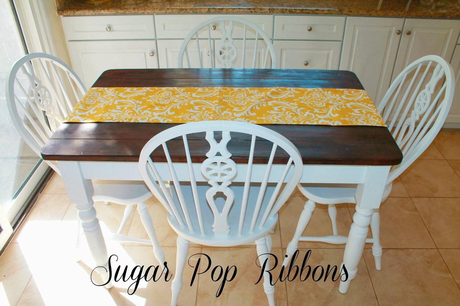 Sugar Pop Ribbons Reviews and Giveaways: DIY Dining Set Refinshing ...