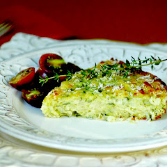 Baked Zucchini Pie with Cheese and Herbs