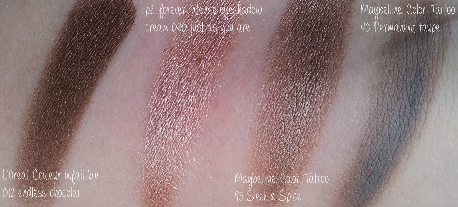 Swatches Maybelline Color Tattoo 95 Sleek&Spice Dupes