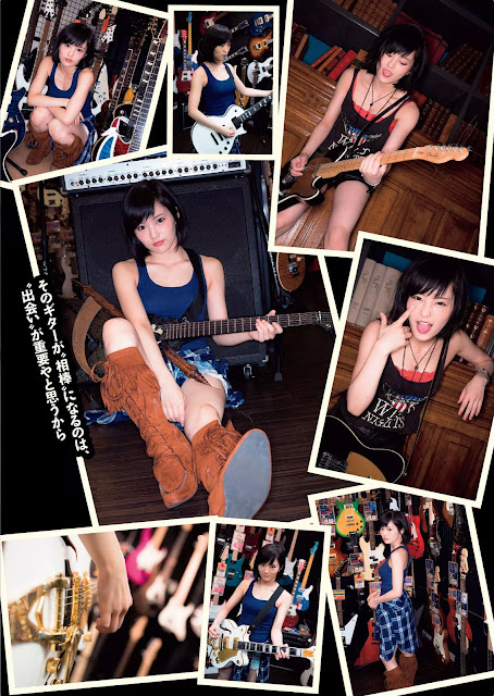 Yamamoto Sayaka 山本彩 Guitar Weekly Playboy Oct 2015 Pics 5