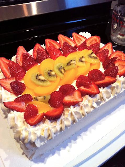 Birthday Cake Fruit Decoration : In Michelle s Kitchen: Vanilla Chiffon Sponge Cake