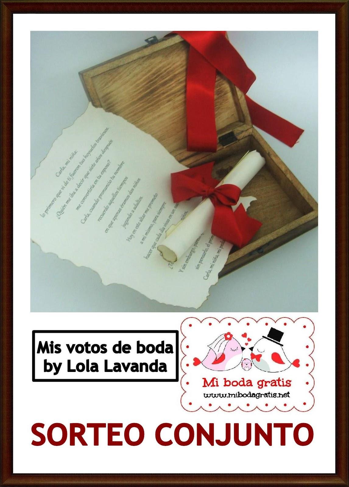 Blog Mi Boda: Mis Votos de Boda sortea Votos de Boda Personalizados