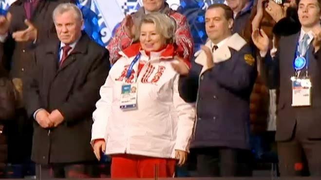 Председатель Правительства РФ Д.А.Медведев на Открытии XXII Зимней Олимпиады в Сочи 2014  Автор фото председатель НСНБР А.Г.Огнивцев.