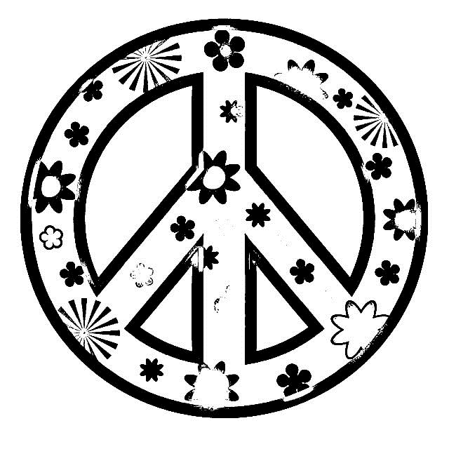 coloring pages peace sign - peace sign coloring pages for girls printable coloring pages