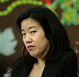 Michelle Rhee is a favorite among teabaggers and other disciples of Ayn Rand. Rhee collaborates with, and has even worked on the transition teams of the most reactionary right-wing Governors from Florida, Wisconsin, Michigan, and Ohio.