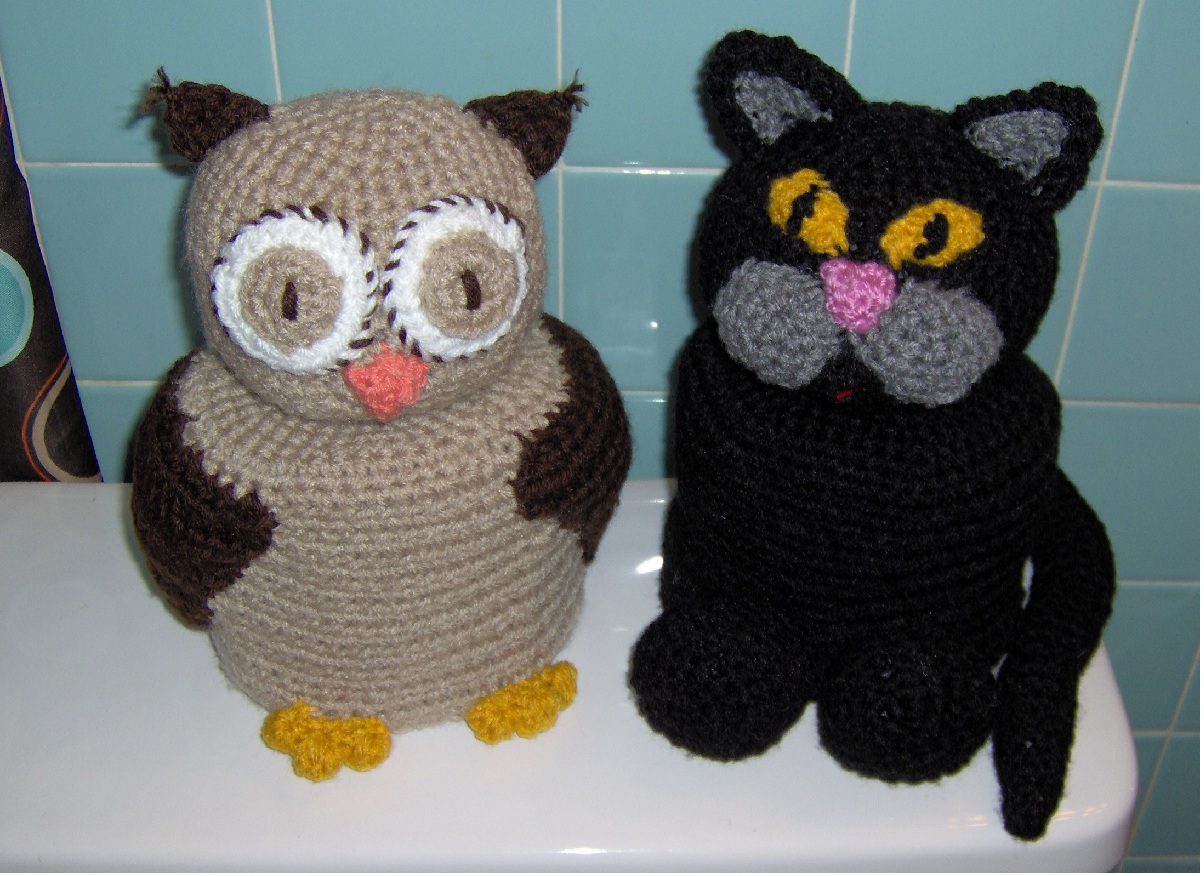Free Crochet Patterns For Toilet Tissue Holders : toilet paper cover crochet patterns