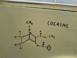 Cocaine Formula on wall