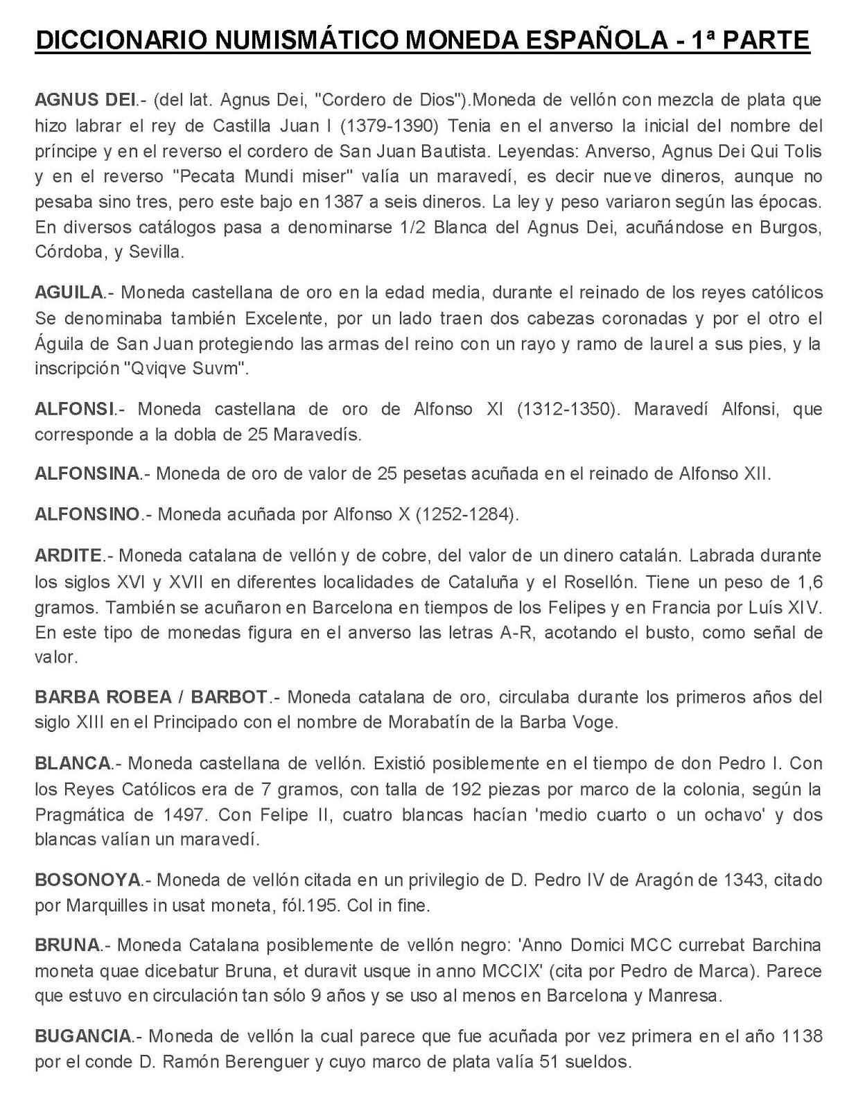 EL MUNDO DEL COLECCIONISMO: DICCIONARIO NUMISMÁTICO MONEDA ESPAÑOLA ...