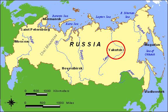 Frolicking in the Field: Yakutsk, Russia on volgograd russia on world map, chechnya russia on world map, khabarovsk russia on world map, oymyakon russia on world map, st. petersburg russia on world map, sochi russia on world map, moscow russia on world map, suzdal russia on world map, khakassia russia on world map, novosibirsk russia on world map, arkhangelsk russia on world map, sakhalin russia on world map, murmansk russia on world map,