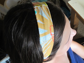 make a headband from cotton lycra