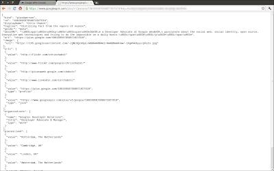 Google+ API key