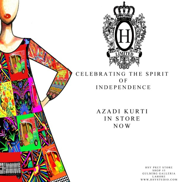 Independence Day Azadi Kurti by HSY
