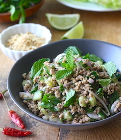 thai minced pork with lemongrass ginger seasoning recipe