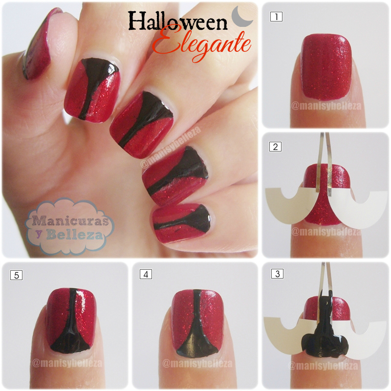 Tutorial nail art Halloween elegante easy nails
