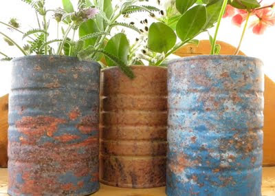 Patina+Cans+3 - DIY Tin Can Planters