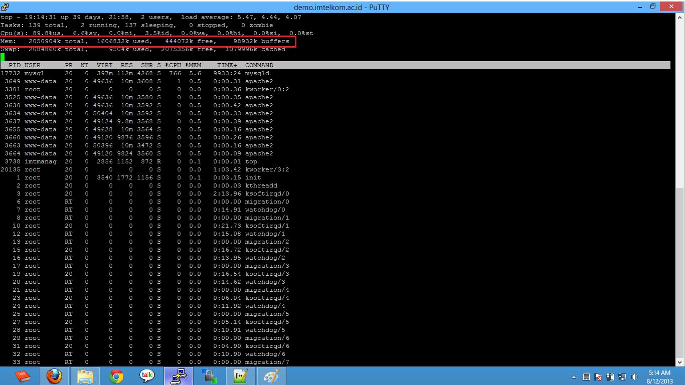 output top di linux ubuntu