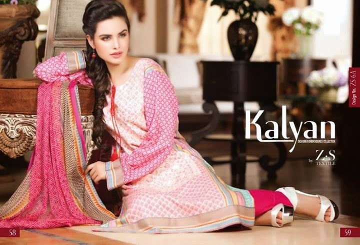 ZS Textiles Kalyan Embroidered 2014