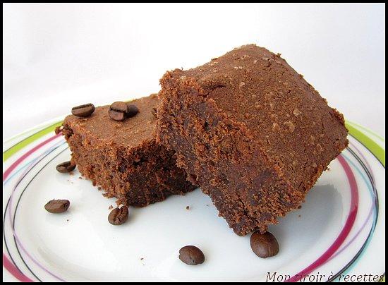 brownie chocolat café